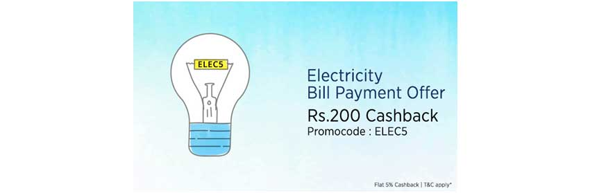 offers on electricity bill payment